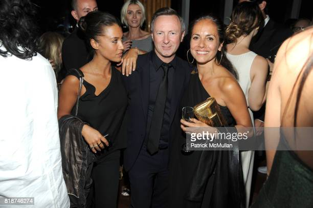 Bibi Cornejo Borthwick Kevin Carrigan and Maria Cornejo attend SWAROVSKI After Party for the 2010 CFDA Awards at The 18th Floor on June 7 2010 in New...