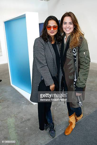 Bibi Manavi and Anouchka Delon attend the FIAC 2016 International Contemporary Art Fair Press Preview Held at Le Grand Palais on October 19 2016 in...