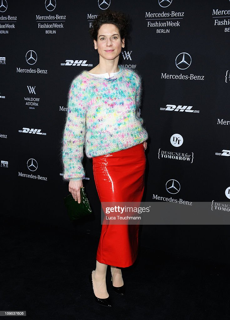 Bibiana Beglau attends Leandro Cano Autumn/Winter 2013/14 fashion show during Mercedes-Benz Fashion Week Berlin at Brandenburg Gate on January 15, 2013 in Berlin, Germany.