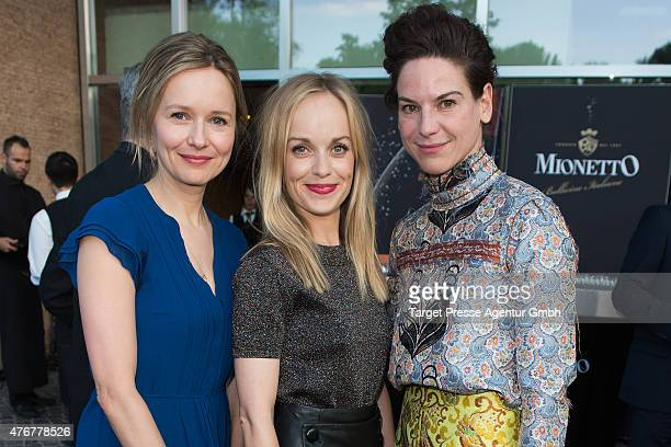 Bibiana Beglau Stefanie Stappenbeck and Frederike Kempter attend the producer party 2015 of the Alliance German Producer Cinema And Television on...