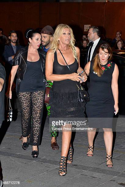 Bibiana Fernandez and Rossy de Palma attend FIBA Private Party on September 14 2014 in Madrid Spain