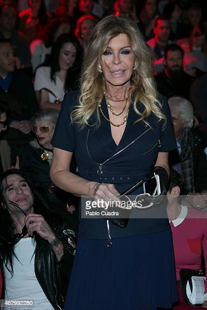 Bibiana Fernandez attends the catwalks during Madrid Fashion Week Fall/Winter 2015/16 at Ifema on February 8 2015 in Madrid Spain