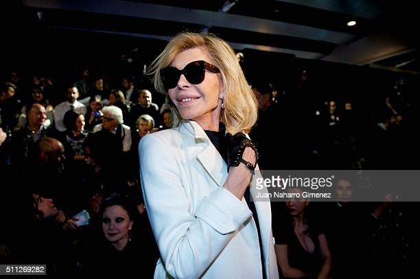 Bibiana Fernandez attends the front row of David Delfin show during the MercedesBenz Madrid Fashion Week Autumn/Winter 2016/2017 at Ifema on February...