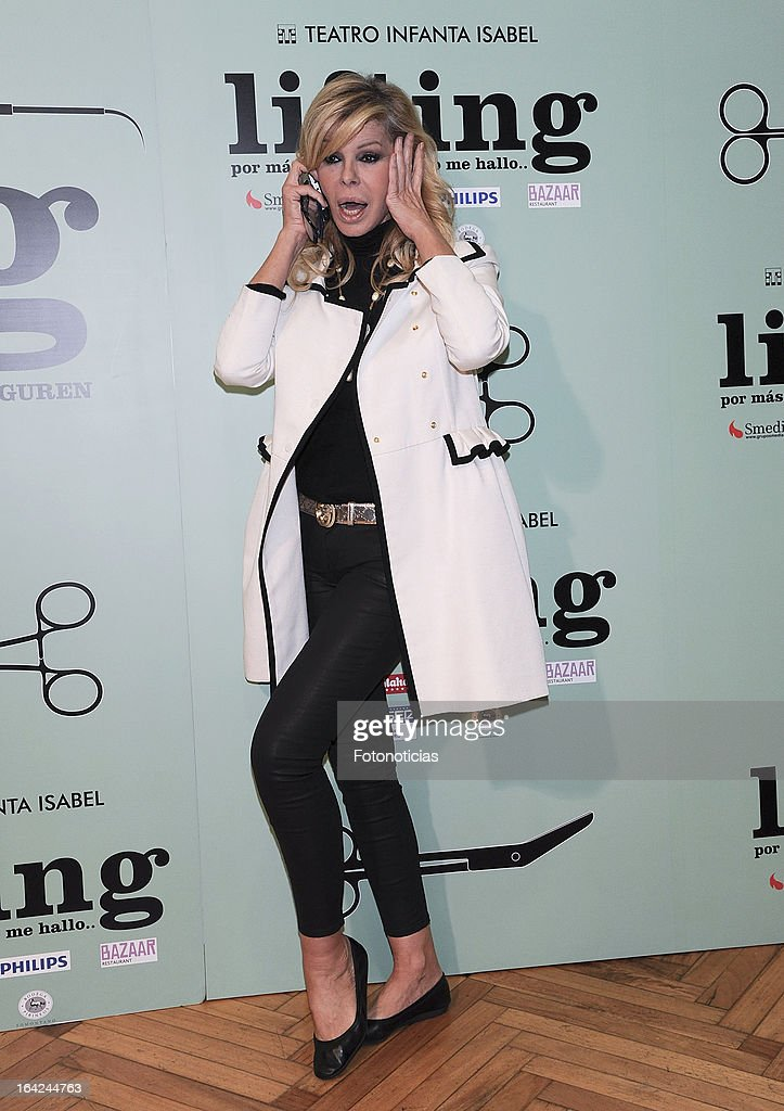 Bibiana Fernandez attends the premiere of 'Lifting' at the Infanta Isabel theatre on March 21, 2013 in Madrid, Spain.