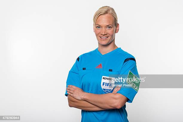 Bibiana Steinhaus poses during a photo shoot prior to the annual referee course on July 2 2015 in Grassau Germany