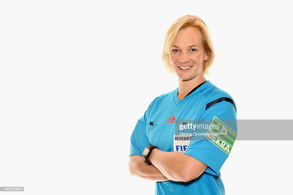 <a gi-track='captionPersonalityLinkClicked' href=/galleries/search?phrase=Bibiana+Steinhaus&family=editorial&specificpeople=2299795 ng-click='$event.stopPropagation()'>Bibiana Steinhaus</a> poses during a portrait session during the DFB Referee's Training Camp on January 21, 2015 in Palma de Mallorca, Spain.