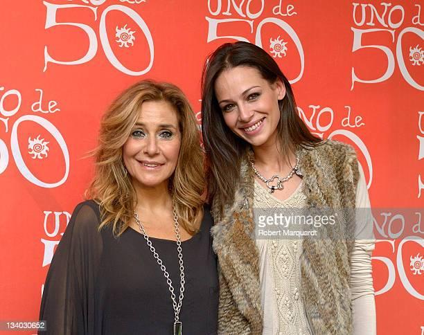 Bibina Chocron and Eva Gonzalez attend the 'UNO de 50' 15th Anniversary in store on November 24 2011 in Barcelona Spain