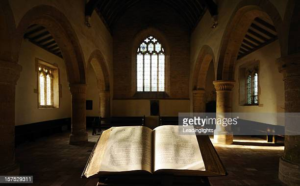 Bible and Empty Church