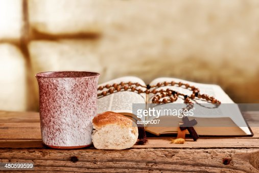 Bible And Rosary : Stock Photo