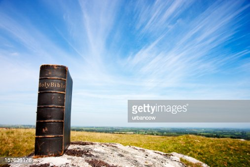 Bible on moorland