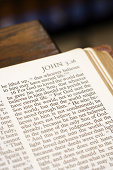 Bible page from the book of John