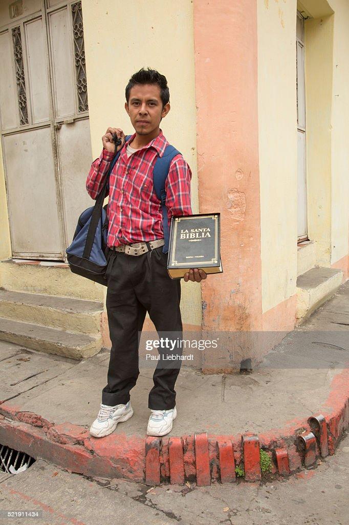 Bible Salesman in Guatemala