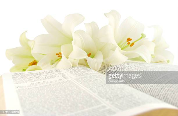 Bible with Easter Lilies (KJV)
