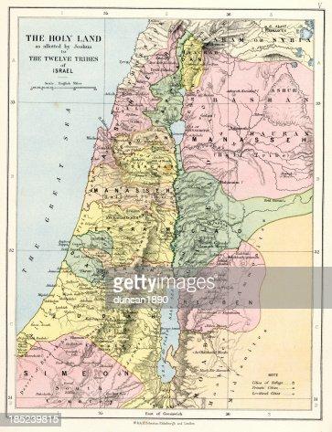 聖書のマップの聖地