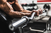 Biceps Workout at gym