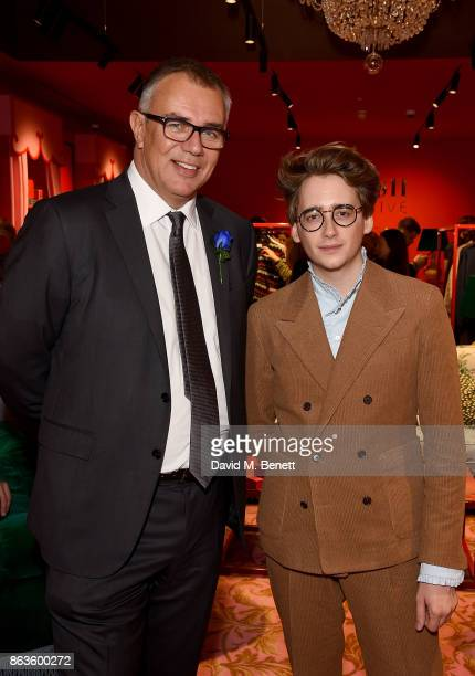 Bicester Village Business Director Andrew Marshall and Luke Edward Hall at the opening of the new Bicester Village and the launch of the British...
