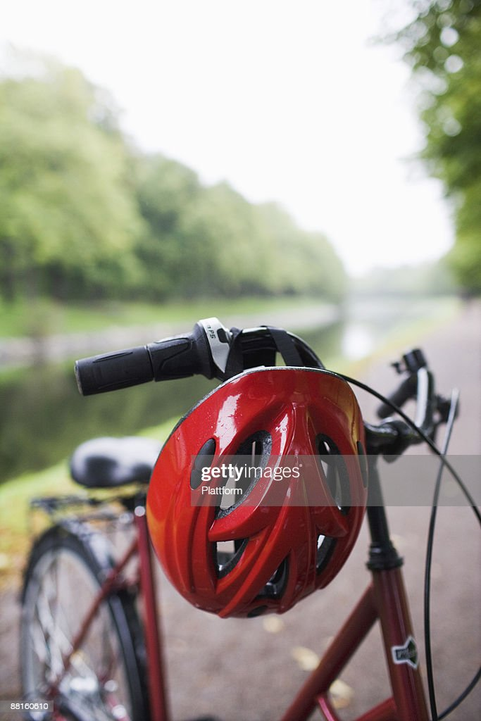 A bicycle and a safety helmet Sweden.