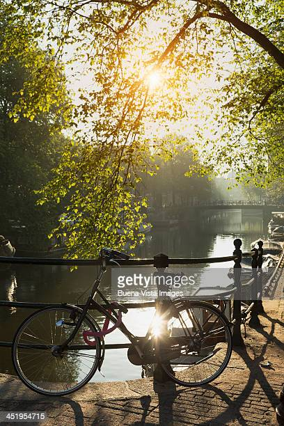Bicycle and bridge over Brouwersgracht canal