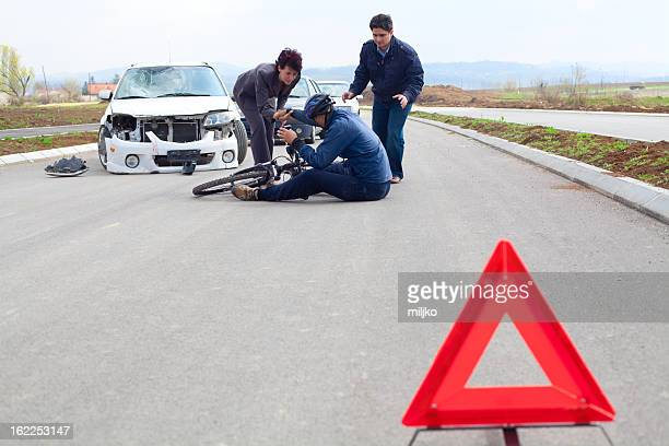 Bicycle and car crash