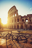 Bicycle by the Coliseum of Rome