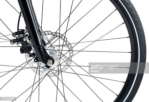 bicycle detail isolated on white