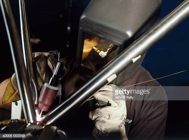 Bicycle Frame Being Welded