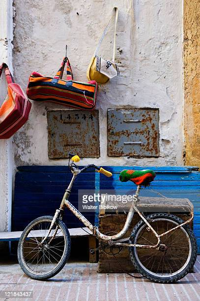 Bicycle in market, Essaouira, Atlantic Coast, Morocco