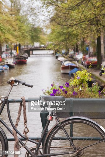 Bicycle, Jordaan District, Central Amsterdam : Stock Photo