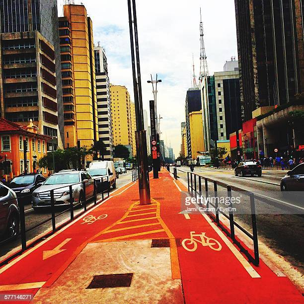 Bicycle Lane In City