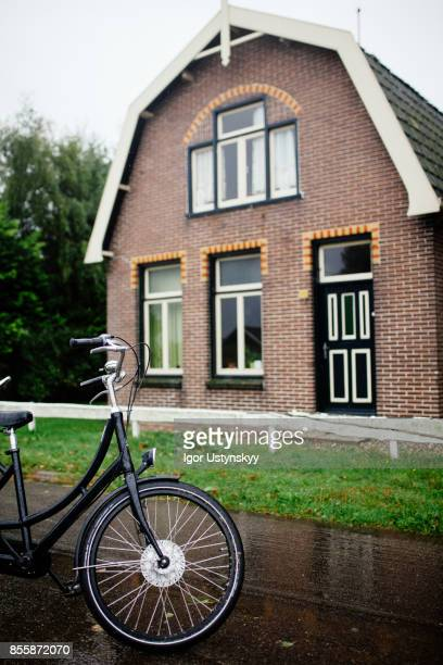 Bicycle near the house