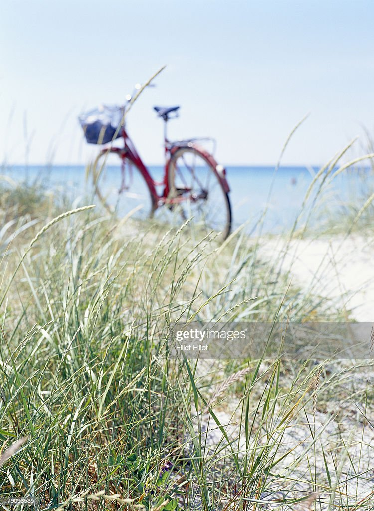 A bicycle on a beach. : Stock Photo