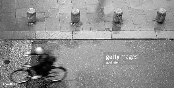 bicycle on wet asphalt