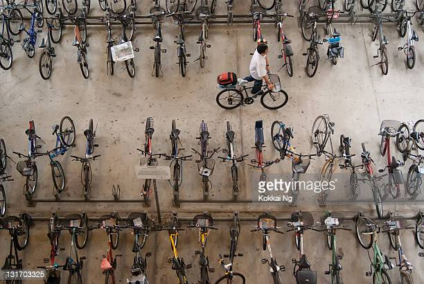 Bicycle park at Boon Lay MRT station