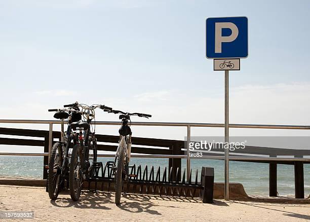 Le stationnement des vélos sur la plage