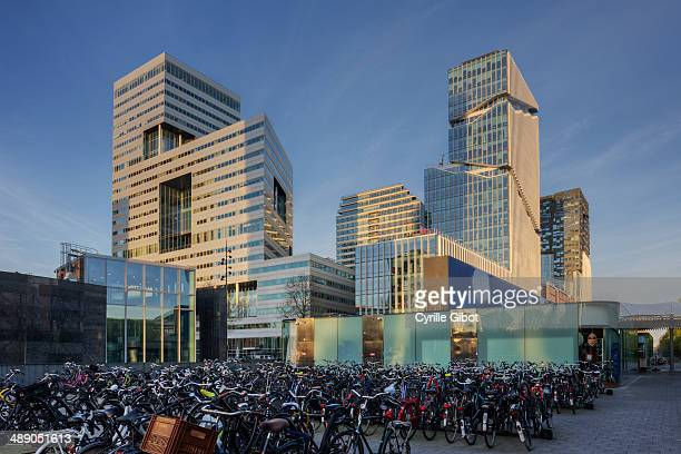 CONTENT] Bicycle parking lot and modern business buildings Amsterdam Zuidas district Amsterdam the Netherlands