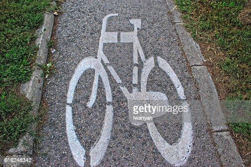 Bicicleta caminho : Foto de stock