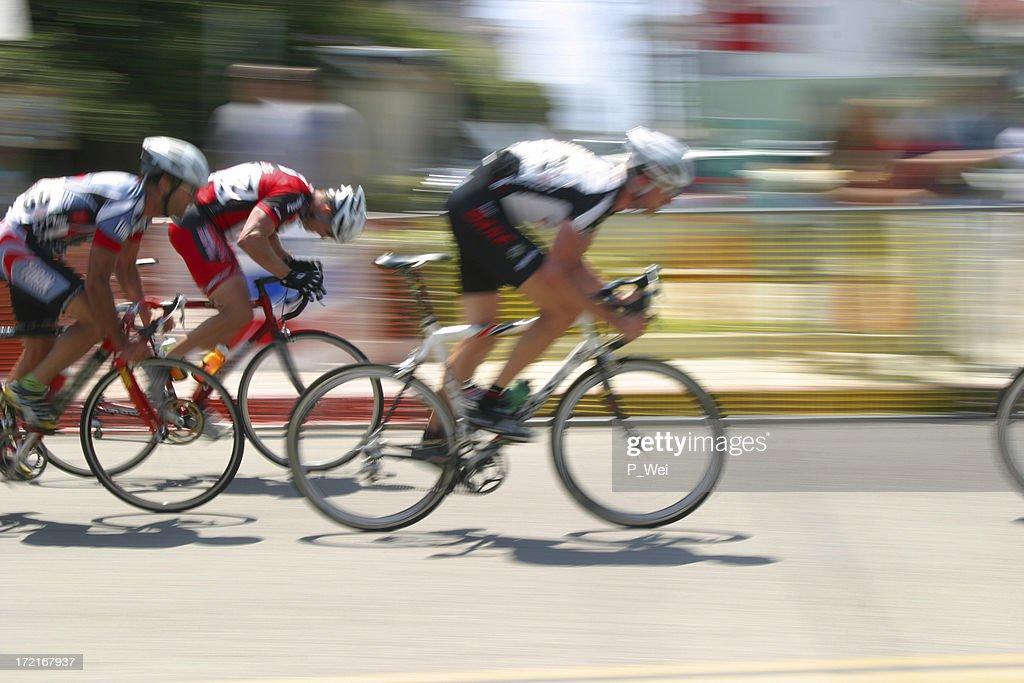 Bicycle Race: Breaking away : Stock Photo