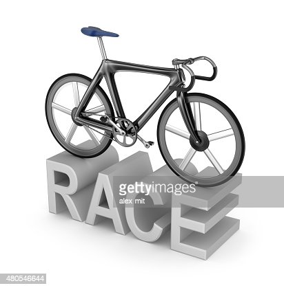 Bicycle race icon on white background. My own bicycle design : Stock Photo