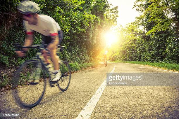 Bicycle  Race on a Countryroad