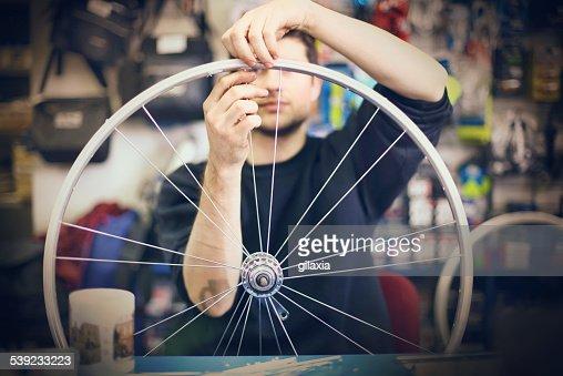 Bicycle shop.