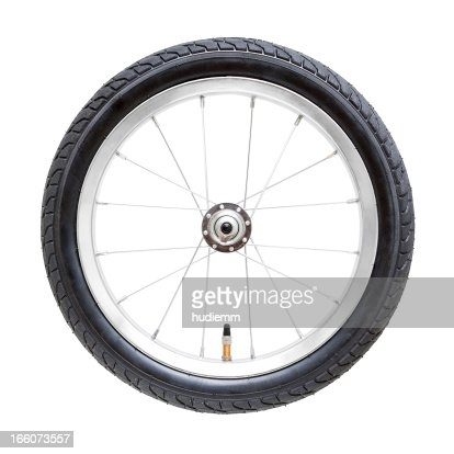 Bicycle wheel (Clipping Path) isolated on while background