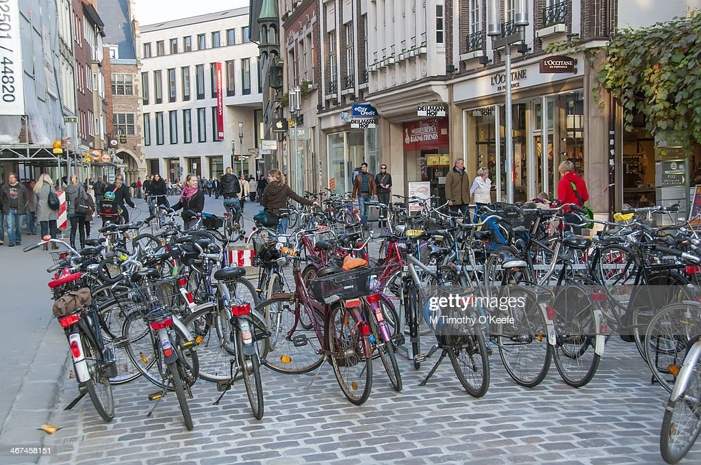 Bicycles City Street Munster Germany