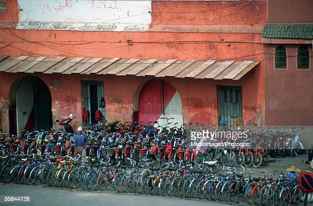 Bicycles for rent, Marrakech, Morocco