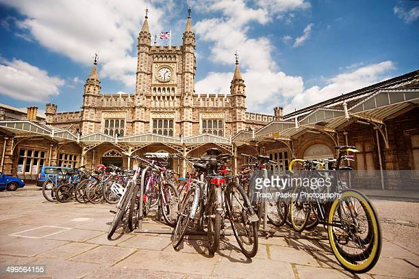 Bicycles outside Bristol Temple Meads Rail Station
