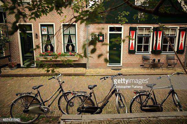 Bicycles sit in the street in the traditional Dutch town of Volendam as the Netherlands tries to come to terms with the tragedy of Malaysia Airlines...