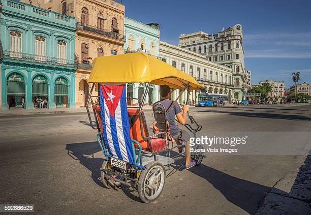 Bicycle-Taxi in Havana, Cuba.