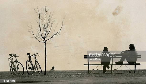 FEB 3 1973 FEB 5 1973 Bicyclists Greet Denver's Mild Weather A young couple pauses to rest Sunday afternoon in Cheesman Park as Denverites got a...