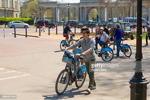 Bicyclists in London's Hyde Park