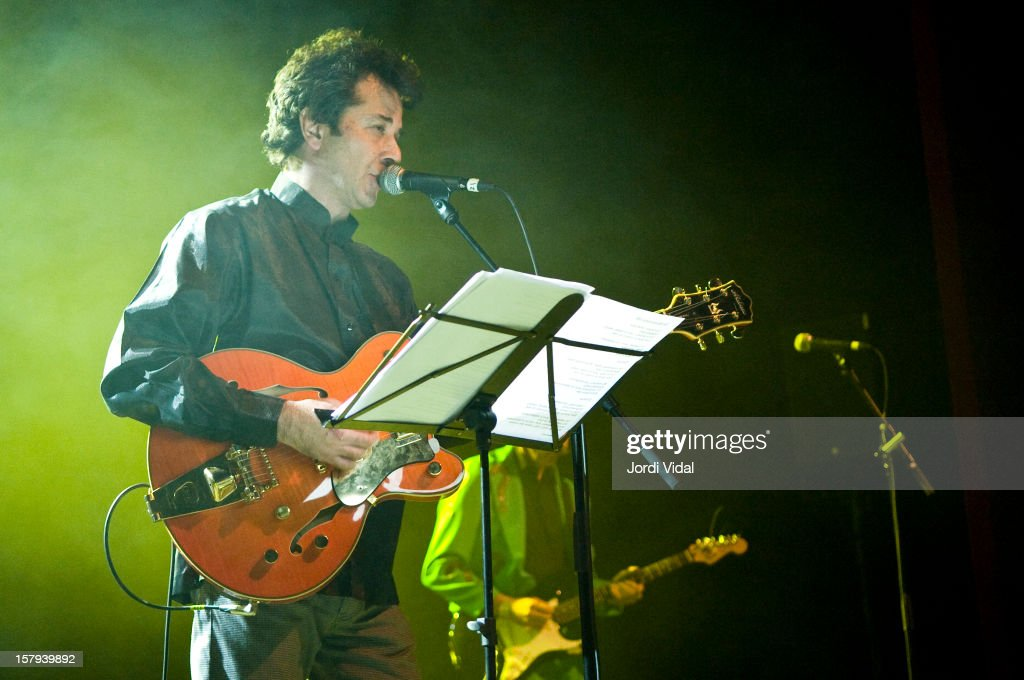 Bid of The Monochrome Set performs on Day 2 of the Primavera Club Festival at Arteria Paral.lel on December 7, 2012 in Barcelona, Spain.