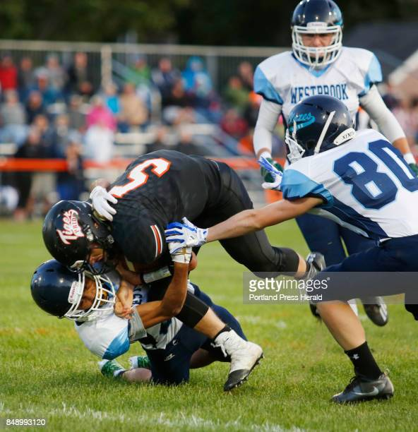 Biddeford hosts Westbrook in opener on Friday Timyka Adams of Westbrook tackles Carter Edgerton of Biddeford in the first quarter